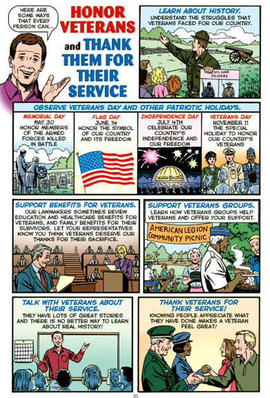 OUR COUNTRY'S FLAG Educational Comic Book